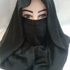 niqab ready to wear front picture black