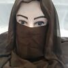 niqab ready to wear front picture brown