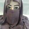 niqab ready to wear front picture dirty brown