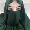 niqab ready to wear front picture forest green