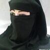 two layers plain chiffon niqab black