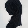 self printed square scarf design 2 black full picture