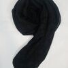 self printed square scarf design 5 black full picture