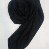 self printed square scarf design 6 black full picture