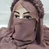 crown ready to wear niqaab nude front picture