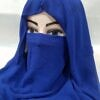 niqab ready to wear blue front picture