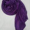 crinkle silk scarf brinjal full picture