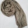 crinkle silk scarf coffee full picture