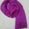 crinkle silk scarf fuchsia full picture