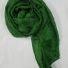 crinkle silk scarf green full picture
