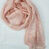 crinkle silk scarf peach full picture