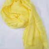 crinkle silk scarf yellow full picture