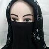 elastic half niqab black full picture