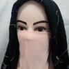 elastic half niqab peach full picture