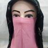 elastic half niqab pink full picture