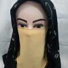 elastic half niqab yellow full picture