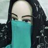 elastic half niqab sea green full picture