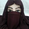 niqab ready to wear chocolate brown front picture