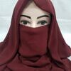 niqab ready to wear dirty maroon front picture