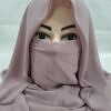 niqab ready to wear mauve front picture