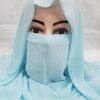niqab ready to wear sky blue front picture