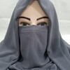 niqab ready to wear slate grey front picture