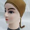 plain tie back bonnet cap caramel brown
