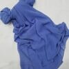 plain chiffon scarf denim blue full picture