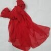 plain chiffon scarf red full picture