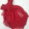 plain chiffon scarf reddish orange full picture