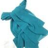 plain chiffon scarf sea blue full picture