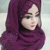 embroidered ready to wear hijab magenta