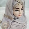 embroidered ready to wear hijab nude