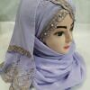 embroidered ready to wear hijab purple
