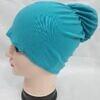 bun back underscarf aqua blue