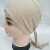 plain tie back bonnet beige