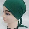 plain tie back bonnet forest green