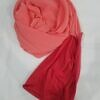 chiffon ready to wear with stitched cap coral