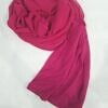 chiffon ready to wear with stitched cap deep pink