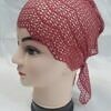 lace tie back bonnet rosewood