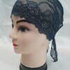 lace tie back bonnet spruce blue