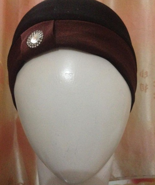 Hijab Cap with Stone – Brown