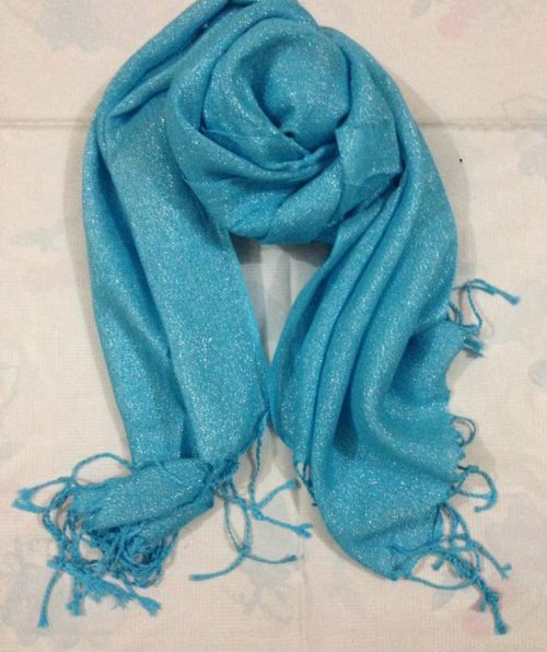 Shimmer Viscose Scarf – Sky Blue