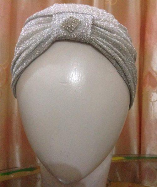 Turban Under Cap – Silver