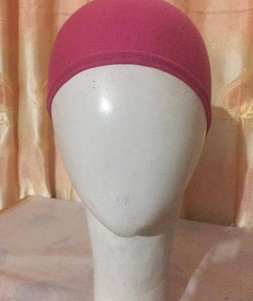 Tie Back Bonnet Cap – Pink