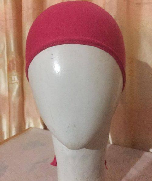 Tie Back Bonnet Cap – Deep Pink