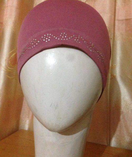 Full Cap With Stones – Rose pink