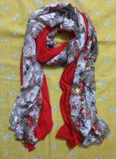 Two In One Scarf – Red