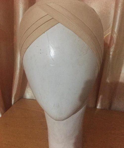 Turban Tie Back Bonnet Cap – Skin