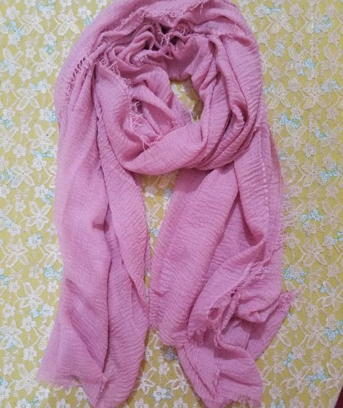 Crinkle Lawn Scarf – Baby Pink